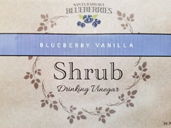 Blueberry Vanilla Shrub- 3 Pak