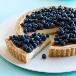 Lemon Blueberry Cheese Tart